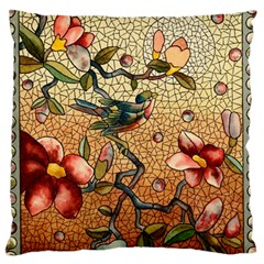 Flower Cubism Mosaic Vintage Large Cushion Case (one Side) by Pakrebo