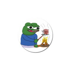 Apu Apustaja Roasting A Snail On A Campfire Pepe The Frog Pepethefrog The Helper Kekistan Golf Ball Marker (10 Pack) by snek