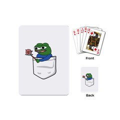 Apu Apustaja Roasting A Snail On A Campfire Pepe The Frog Pocket Tee Kekistan Playing Cards (mini) by snek