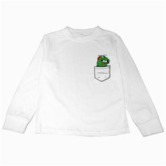 Apu Apustaja Crying Pepe The Frog Pocket Tee Kekistan Kids Long Sleeve T Shirts