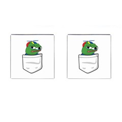 Apu Apustaja Crying Pepe The Frog Pocket Tee Kekistan Cufflinks (square) by snek