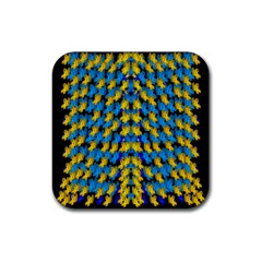 Flowers Coming From Above Ornate Decorative Rubber Coaster (square)