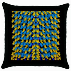 Flowers Coming From Above Ornate Decorative Throw Pillow Case (black)