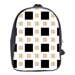 Squares On A Mission School Bag (xl) by TimelessFashion