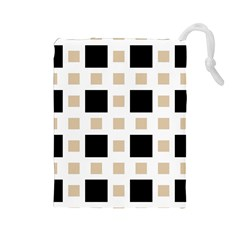 Squares On A Mission Drawstring Pouch (large)