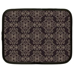 Timeless In Black And Almond Buff Netbook Case (xl)