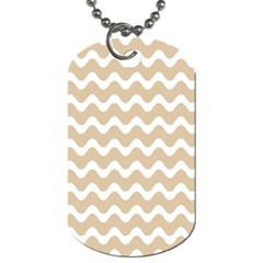 Waves  Dog Tag (two Sides) by TimelessFashion