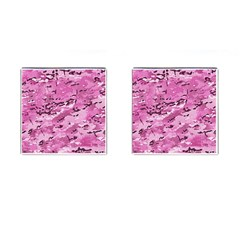 Pink Camouflage Army Military Girl Cufflinks (square) by snek