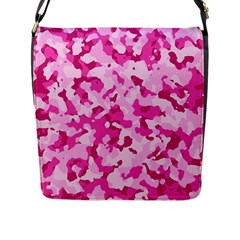 Standard Pink Camouflage Army Military Girl Funny Pattern Flap Closure Messenger Bag (l)