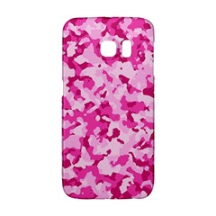 Standard Pink Camouflage Army Military Girl Funny Pattern Samsung Galaxy S6 Edge Hardshell Case