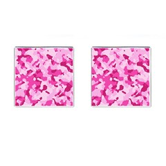 Standard Pink Camouflage Army Military Girl Cufflinks (square) by snek