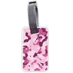 Standard Violet Pink Camouflage Army Military Girl Luggage Tags (one Side)