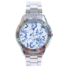 Standard Light Blue Camouflage Army Military Stainless Steel Analogue Watch