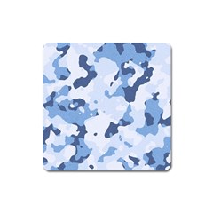 Standard Light Blue Camouflage Army Military Square Magnet by snek