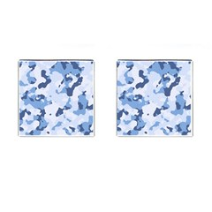 Standard Light Blue Camouflage Army Military Cufflinks (square) by snek