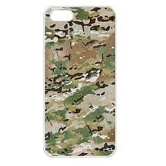 Wood Camouflage Military Army Green Khaki Pattern Apple Iphone 5 Seamless Case (white)