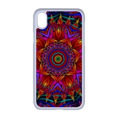 Kaleidoscope Pattern Ornament Apple Iphone Xr Seamless Case (white)