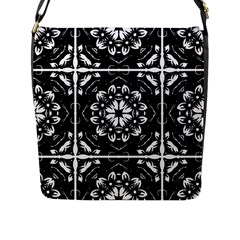 Kaleidoscope Mandala Art Flap Closure Messenger Bag (l)