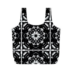 Kaleidoscope Mandala Art Full Print Recycle Bag (m)