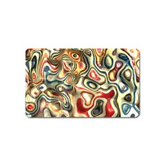 Abstract Background Pattern Art Magnet (name Card)