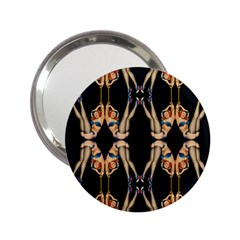 Kaleidoscope Symmetry Pattern Girls 2 25  Handbag Mirrors by Pakrebo