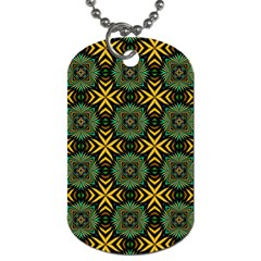 Kaleidoscope Pattern Seamless Dog Tag (two Sides)