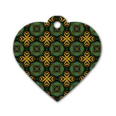 Kaleidoscope Pattern Seamless Dog Tag Heart (two Sides)