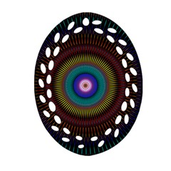 Artskop Kaleidoscope Pattern Ornament (oval Filigree)