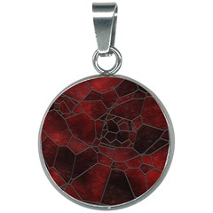 Mosaic Glass Glass Mosaic Colorful 20mm Round Necklace by Pakrebo