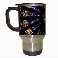 Church Stained Glass Windows Colors Travel Mugs (white)