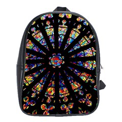 Church Stained Glass Windows Colors School Bag (large)