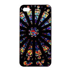 Church Stained Glass Windows Colors Apple Iphone 4/4s Seamless Case (black)