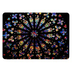Church Stained Glass Windows Colors Samsung Galaxy Tab 8 9  P7300 Flip Case by Pakrebo