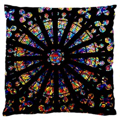 Church Stained Glass Windows Colors Standard Flano Cushion Case (one Side)