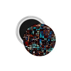 Stained Glass Mosaic Abstract 1 75  Magnets
