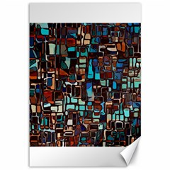 Stained Glass Mosaic Abstract Canvas 12  X 18