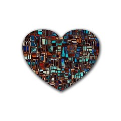 Stained Glass Mosaic Abstract Heart Coaster (4 Pack)