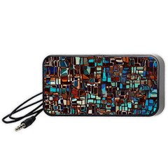 Stained Glass Mosaic Abstract Portable Speaker