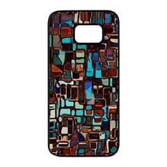 Stained Glass Mosaic Abstract Samsung Galaxy S7 Edge Black Seamless Case