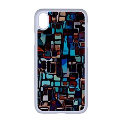Stained Glass Mosaic Abstract Apple Iphone Xr Seamless Case (white)