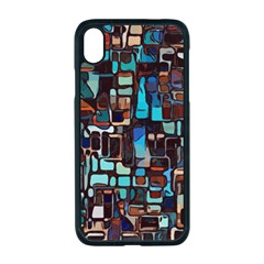 Stained Glass Mosaic Abstract Apple Iphone Xr Seamless Case (black)