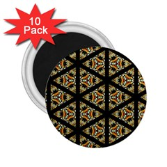 Pattern Stained Glass Triangles 2 25  Magnets (10 Pack)  by Pakrebo