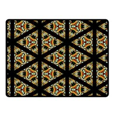 Pattern Stained Glass Triangles Fleece Blanket (small)