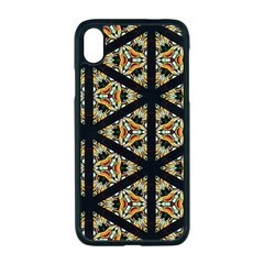 Pattern Stained Glass Triangles Apple Iphone Xr Seamless Case (black)