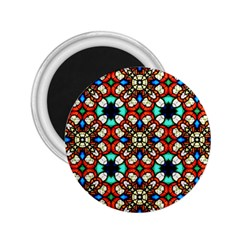 Stained Glass Pattern Texture Face 2 25  Magnets