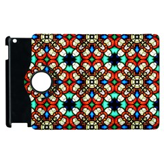 Stained Glass Pattern Texture Face Apple Ipad 3/4 Flip 360 Case