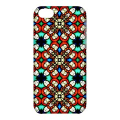 Stained Glass Pattern Texture Face Apple Iphone 5c Hardshell Case