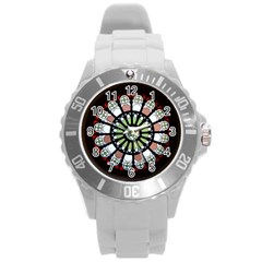 Color Light Glass Round Plastic Sport Watch (l) by Pakrebo
