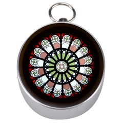 Color Light Glass Silver Compasses