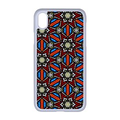 Pattern Stained Glass Church Apple Iphone Xr Seamless Case (white)
